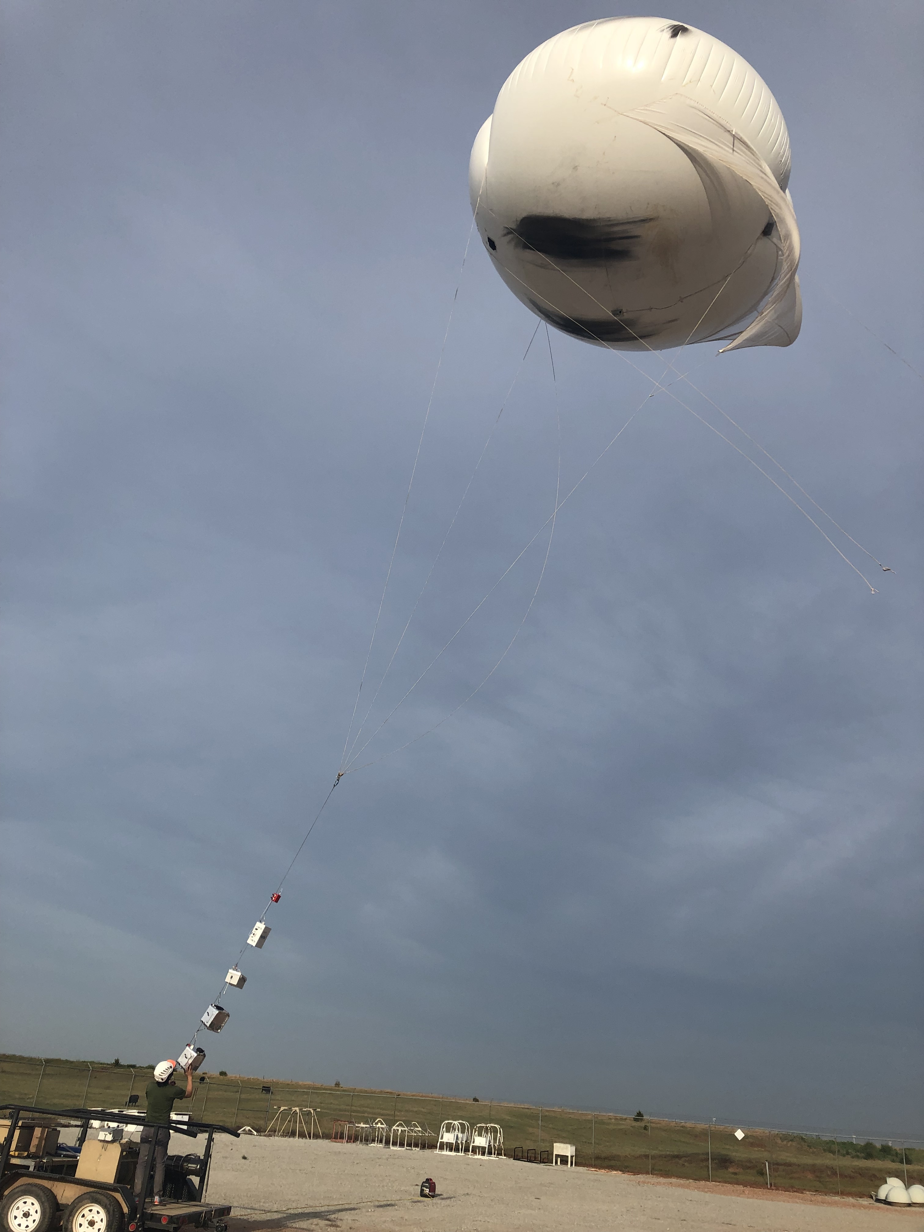 Tethered balloon at Southern Great Plains